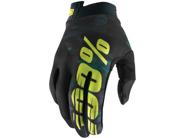 100% iTrack Handschoenen, camo black/green